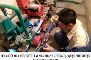 Sửa chữa máy bơm nước nhanh chóng tại quận Phú Nhuận