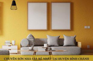 Chuyên sơn nhà giá rẻ nhất tại huyện Bình Chánh