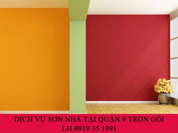 Dịch vụ sơn nhà tại quận 9 trọn gói