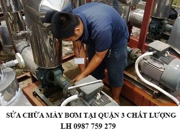 Sửa chữa máy bơm tại quận 3 chất lượng
