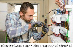 Công ty sửa điện nước gia đình 24h ở quận Gò Vấp