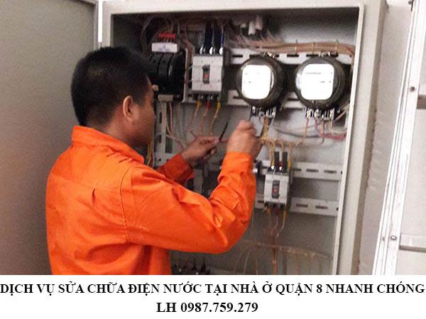 Dịch vụ sửa chữa điện nước tại nhà ở quận 8 nhanh chóng