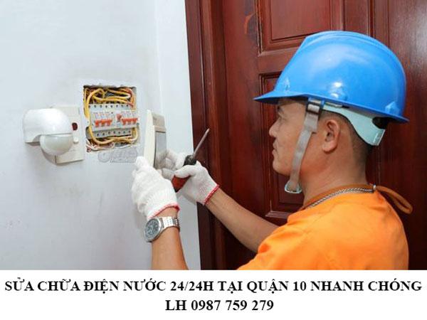 Sửa chữa điện nước 24/24h tại quận 10 nhanh chóng