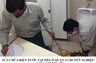 Sửa chữa điện nước tại nhà ở quận 4 chuyên nghiệp