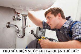 Thợ sửa điện nước 24h tại quận Thủ Đức
