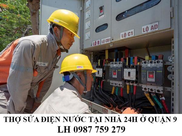 Thợ sửa điện nước tại nhà 24h ở quận 9