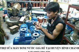 Thợ sửa máy bơm nước giá rẻ tại huyện Bình Chánh