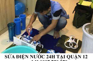 Sửa chữa điện nước 24h tại quận 12.